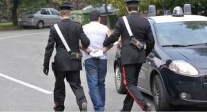 Arresto carabinieri arrestato