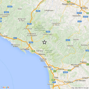 Scossa di terremoto in Garfagnana
