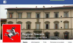 Pagina Fb Regione Toscana