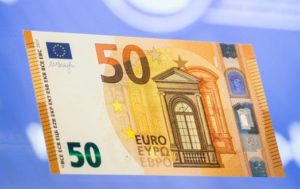 New 50 Euro bank note