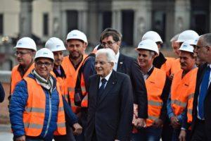 Il presidente Mattarella sul Lungarno Torrigiani restaurato