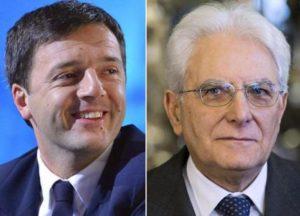 Matteo Renzi e Sergio Mattarella
